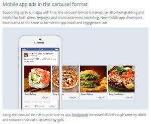 Facebook Carousel Ads, ©Facebook