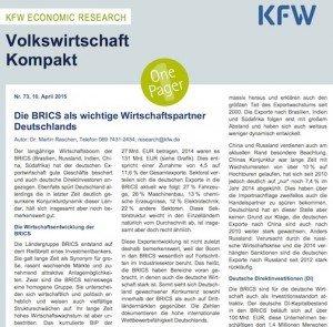 Volkswirtschaft Kompakt Nr. 73, ©KfW