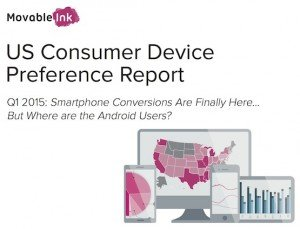 US Consumer Device Preference Report Q1/2015, © Movable Ink