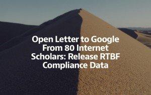 Open Letter to Google, ©Medium