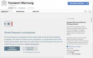 Passwort-Warnung, ©Google, Inc.
