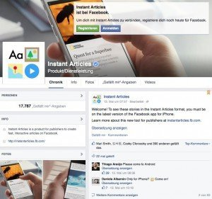 Facebook Instant Articles, © Facebook