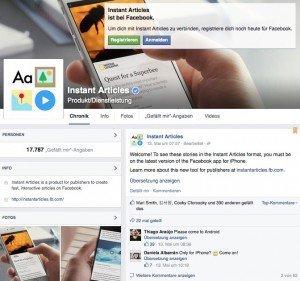 Facebook Instant Articles, ©Facebook