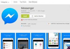 Facebook Messenger, © Facebook – Google Inc.