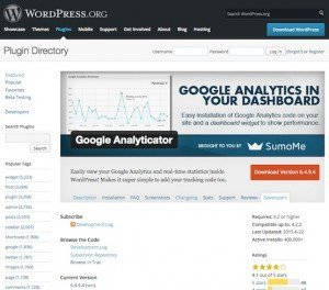 Google Analyticator, © noahkagan – WordPress