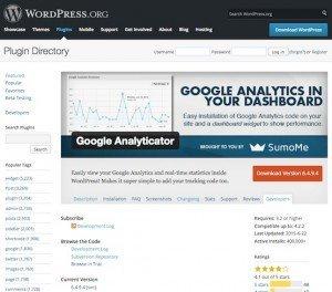 Google Analyticator, ©noahkagan – WordPress
