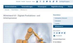 Förderinitiative Mittelstand 4.0, © BMWi