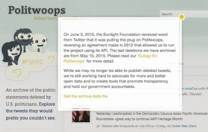 Politwoops, © Sunlight Foundation