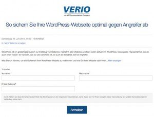 Webinar: WordPress absichern, © Verio Europe – Citrix
