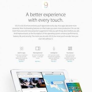 iOS 9 Previewm ©Apple Inc.