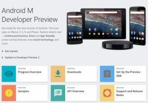 Android M Developer Preview 2, © Google Inc.