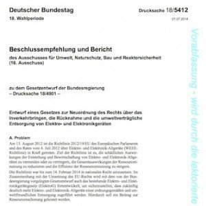 ElektroG, ©Deutscher Bundestag