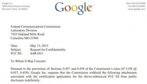 FCC-Antrag, ©Google Inc.