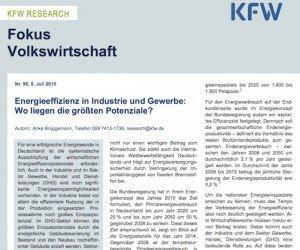 Fokus Volkswirtschaft, © KfW