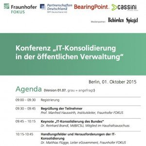 Agenda IT-Konsolidierung 2015, © Fraunhofer FOKUS