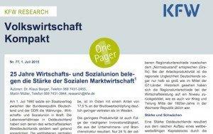 Volkswirtschaft Kompakt 77, ©KfW