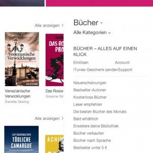 iTunes-Bücher, © Apple Inc.