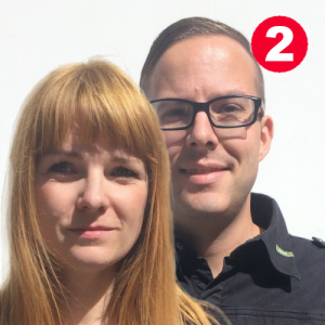 Dr. jur. Irene Hallof (COO) und Christoph Huebner (CEO), Exmedio