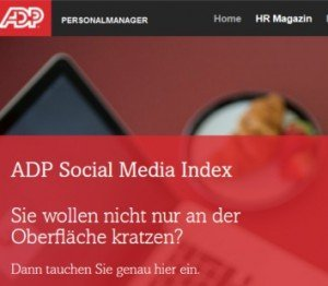 ADP Social Media Index, © ADP Employer Services GmbH
