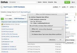 C.H.I.P. auf GitHub, ©Next Thing Co. – GitHub, Inc.