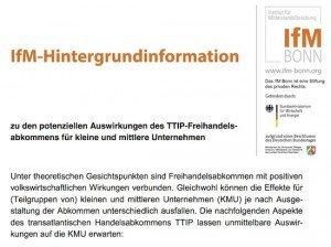 TTIP-Hintergrund, © IfM Bonn