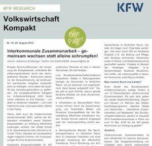Volkswirtschaft Kompakt Nr. 79/2015, © KfW
