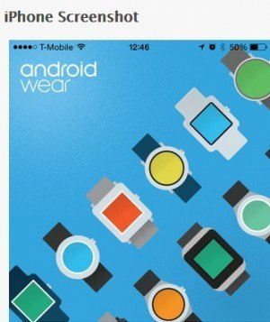 Android Wear für iPhones, © Apple Inc.