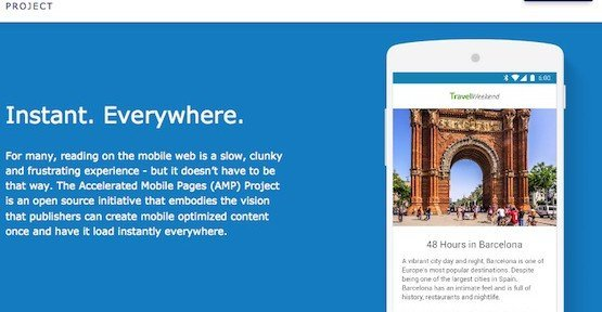 AMP, © Accelerated Mobile Pages Project