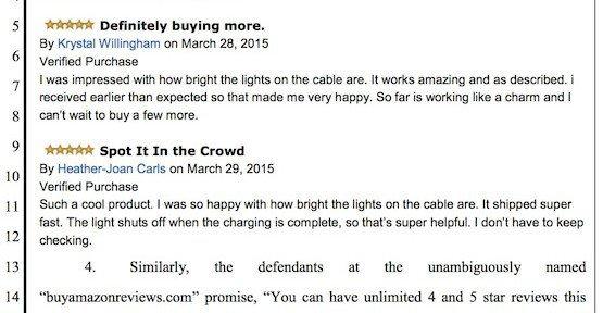 Gekaufte Bewertungen, © Amazon – K&L Gates LLP