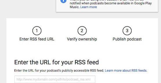 Podcast hochladen, © Google