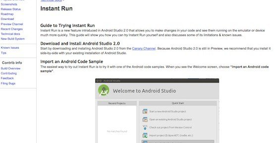 Instant Run, © Android Tools Project