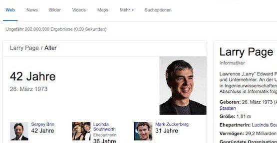 Google-Suche, ©Google, Inc.