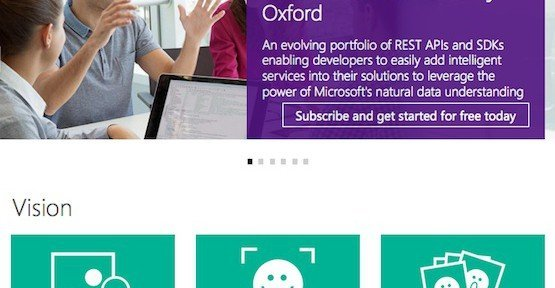 Project Oxford, © Microsoft