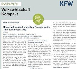 Volkswirtschaft kompakt, © KfW