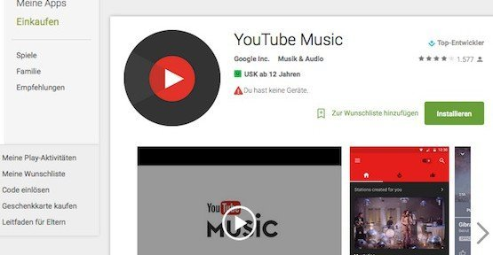 YouTube-Music-App, © Google Inc.