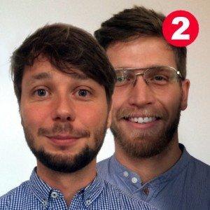 Florian Reichle (kaufmännischer GF, links) und Ole Bröker (Marketing & Business Development, rechts) bei trinckle 3D