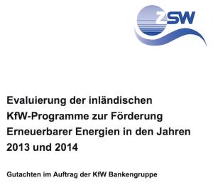 EE-Evaluierung 2013 und 2014, © ZSW