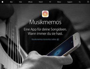 Musikmemos, © Apple Inc.