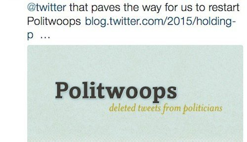 Politwoops, © Sunlight Foundation – Twitter