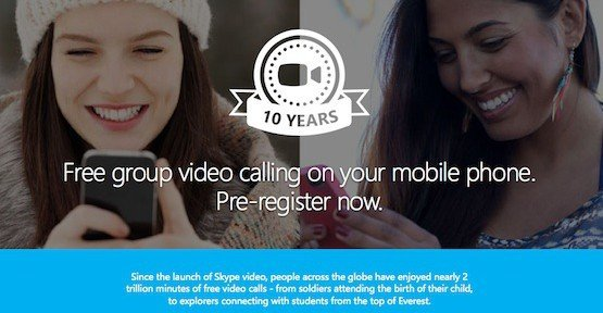 Group Video Calling, © Skype – Microsoft
