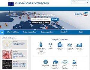Europäisches Datenportal, © EU