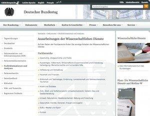 Gutachten online, © Deutscher Bundestag