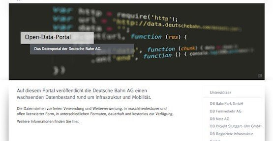 Open-Data-Portal, © Deutsche Bahn AG