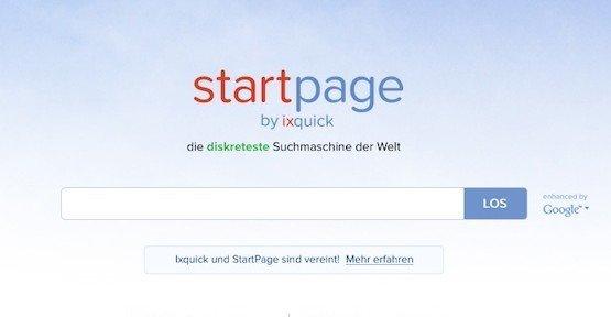 Ixquick als Startpage, © Surfboard Holding B.V.
