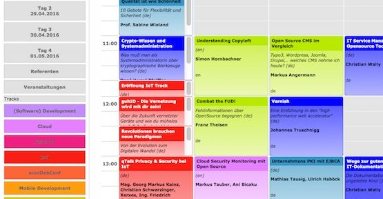 Programm Wien, © Linuxwochen Österreich