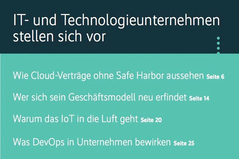 IT- und Technologieunternehmen stellen sich vor 1/2016