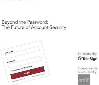 Beyond the Password, © Telesign – Lawless Research