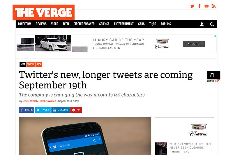 TwitterKurznachrichtendienst will die 140-Zeichen-Grenze sprengen