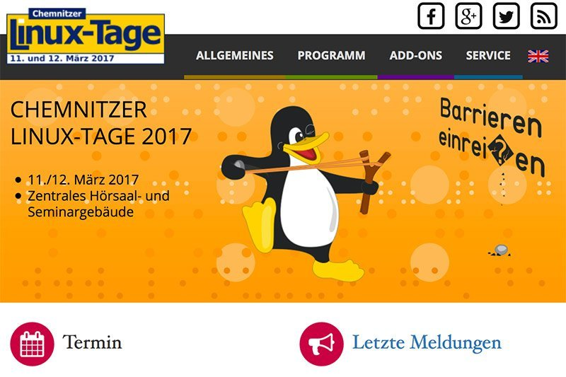 Open SourceDer Call for Lectures der Chem­nitzer Linux-Tage läuft