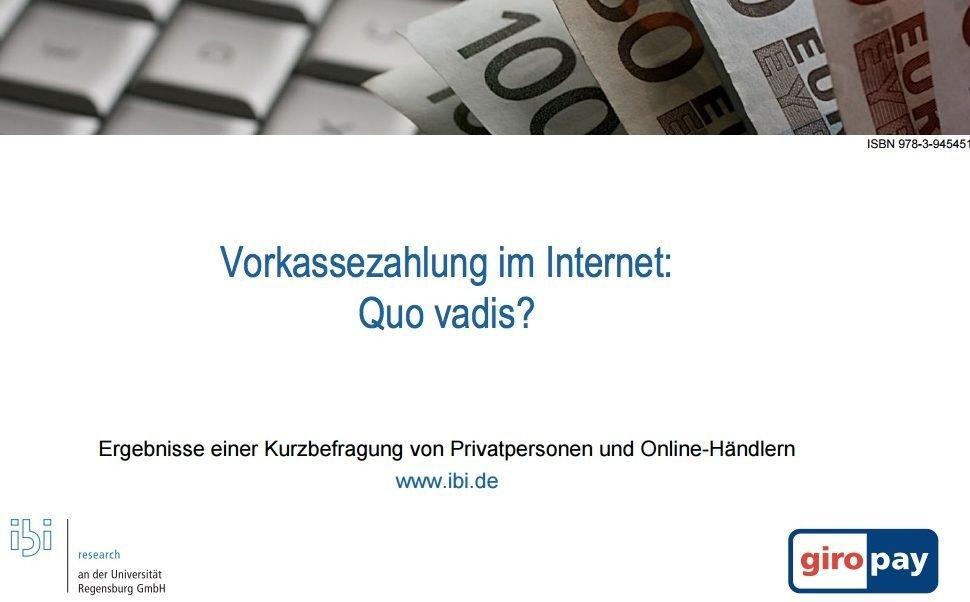 E-PaymentOnline-Händler leisten sich lieber Vorkasse